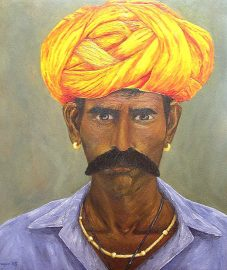 """Intensity, India, Oil on canvas, 20""""x18"""", SOLD"""