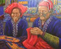 "Sapa, Vietnam, Oil on canvas, 28""x36"", SOLD"
