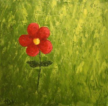 """The Girl, Acrylic on canvas, 12""""x12"""""""