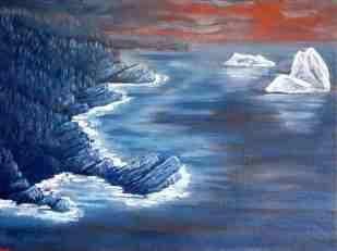 "Stiles Cove, Oil on canvas, 18""x24"""