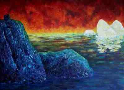 "Signal Hill, Oil on canvas, 22""x30"""