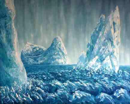 """Pillars, Oil on canvas, 32""""x26"""""""