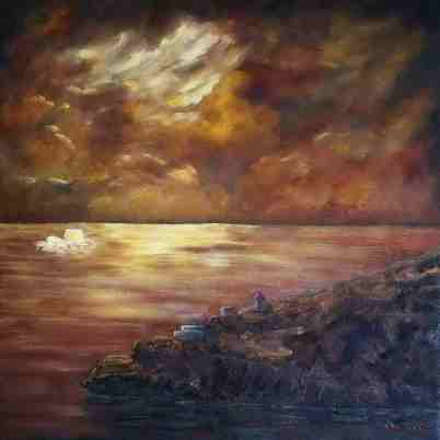 """Fort Amherst, Oil on canvas, 24""""x24"""", SOLD"""