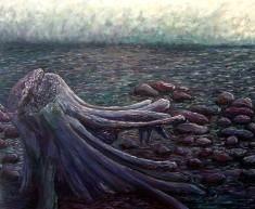 "Adrift, Oil on canvas, 24""x30"", SOLD"