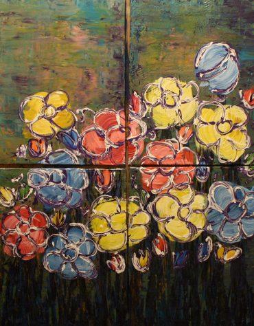 "Bloom, Acrylic on canvas, 40""x32"""