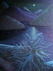 "Lillooet Lake, Oil on canvas, 48""x36"", SOLD"