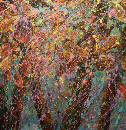 """Polka Dot Pom Pom, Acrylic on canvas, 24""""x24"""""""