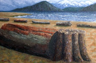 "Spanish Banks, Oil on canvas, 24""x36"""