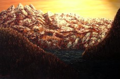 """Tatalus Lookout, Oil on canvas, 24""""x36"""", SOLD"""