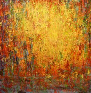 """The Peaceful Warrior, Acrylic on canvas, 29""""x29"""""""