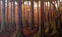 "Unspoken Wisdom, Oil on canvas, 36""x60"", SOLD"