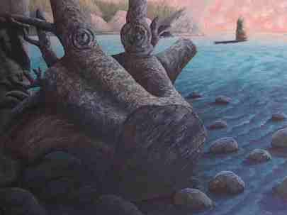 """Uprooted, Oil on canvas, 36""""x48"""", SOLD"""