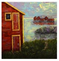 "The Old Shack, Acrylic on canvas, 24""x24"""