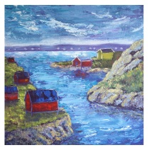 """The Ebbing Tide, Acrylic on canvas, 24""""x24"""", SOLD"""