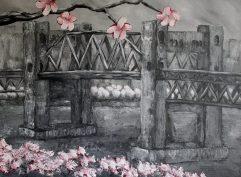 "Burrard Bridge, Acrylic on canvas, 18""x24"", SOLD"