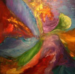 "Rhythm, Acrylic on canvas, 40""x40"""
