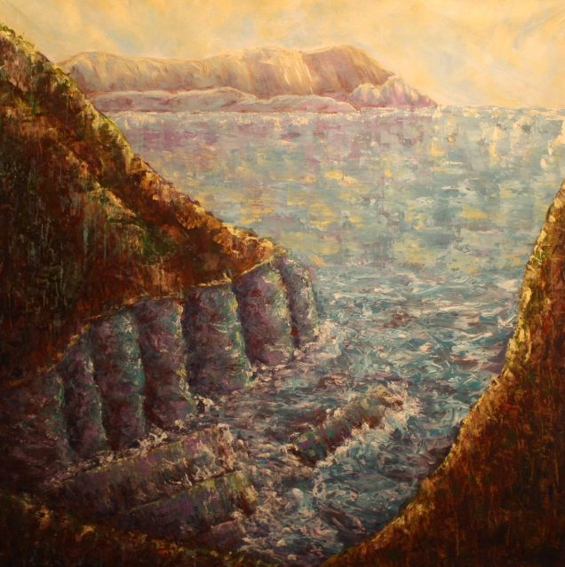 """Endless View, 42""""x42"""", Acrylic on canvas"""