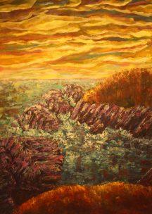 """Rugged Truth, 42""""x30"""", Acrylic on canvas"""
